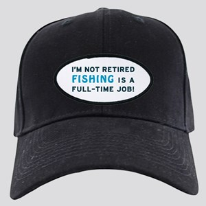 Retired Fishing Gag Gift Black Cap