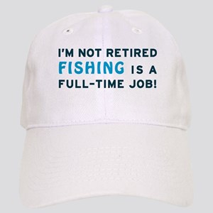 Retired Fishing Gag Gift Cap