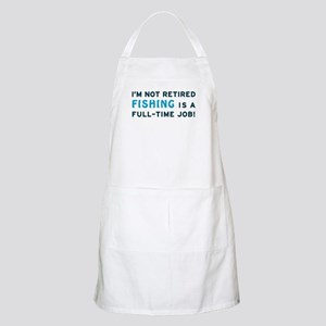 Retired Fishing Gag Gift BBQ Apron