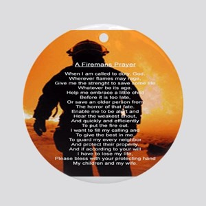 FIREMAS PRAYER Ornament (Round)