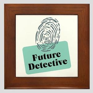 Future Detective Framed Tile
