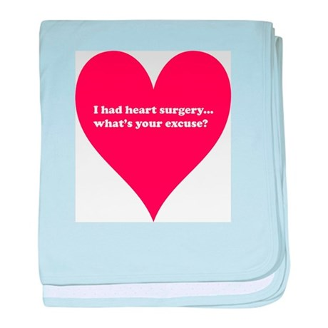I had heart surgery, what's y baby blanket