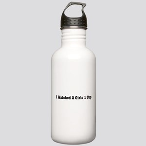 I Watched 2 Girls 1 Cup Stainless Water Bottle 10