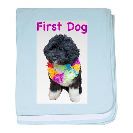 Bo First Dog baby blanket