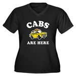 Cabs Are Here Women's Plus Size V-Neck Dark T-Shir