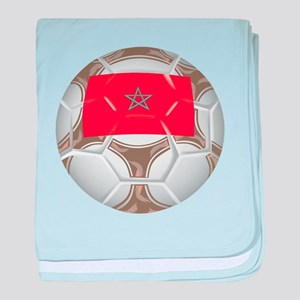 Morocco Championship Soccer baby blanket