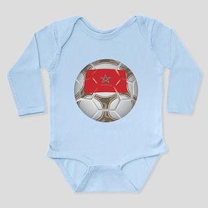 Morocco Championship Soccer Long Sleeve Infant Bod