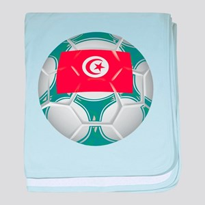 Tunisia Championship Soccer baby blanket