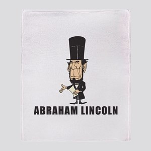 Abe Lincoln goofy Throw Blanket