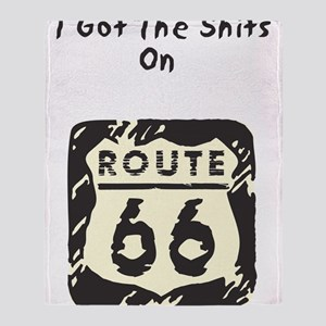 I Got The Shirts On Rt 66 Throw Blanket