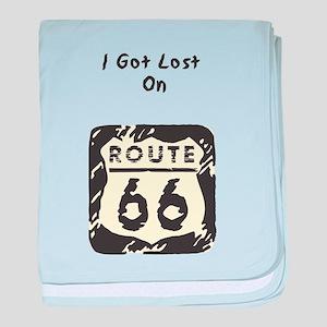 Rt 66 I Got Lost baby blanket