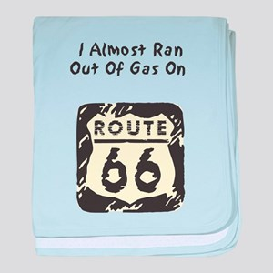 Rt 66 Ran out of Gas baby blanket