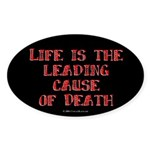 Life and Death Oval Sticker