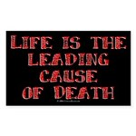 Life and Death Rectangle Sticker