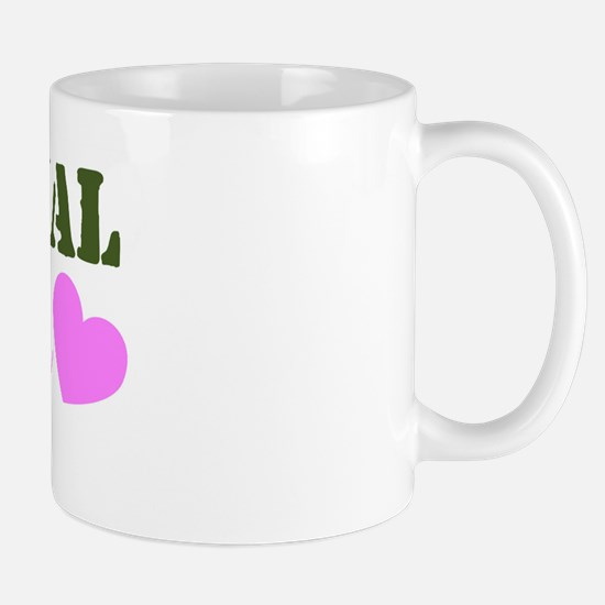 NG Niece Green & Heart Mug