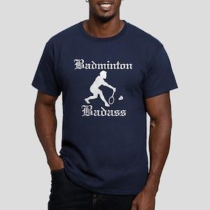 Badminton Badass Men's Fitted T-Shirt (dark)