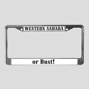 Western Sahara or Bust! License Plate Frame