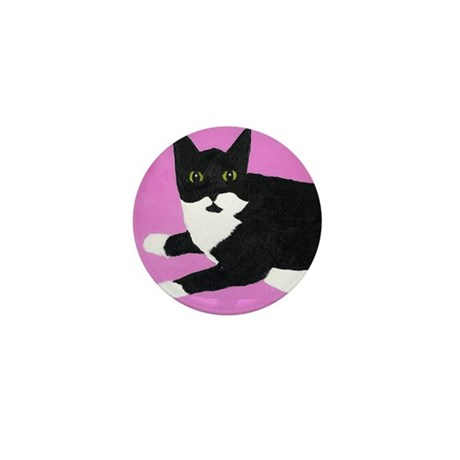 Tuxedo Cat Mini Button (100 pack)