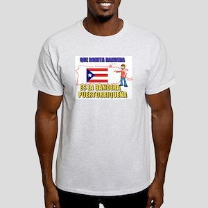 Boricua Que Bonita Bandera Ash Grey T-Shirt