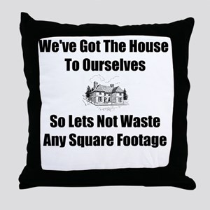 Square Footage Throw Pillow