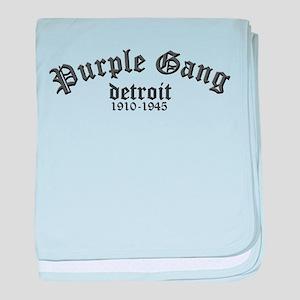 Purple Gang baby blanket