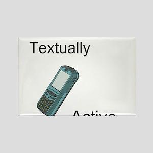 Textually Active Rectangle Magnet
