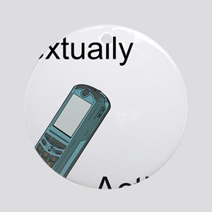 Textually Active Ornament (Round)