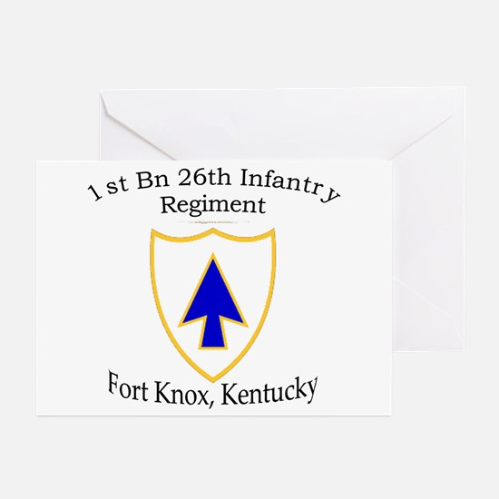 1st Bn 26th Infantry Greeting Cards (Pk of 10)