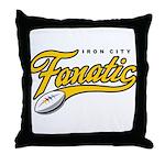Iron City Fanatic Throw Pillow