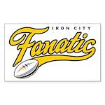 Iron City Fanatic Sticker (Rectangle 50 pk)