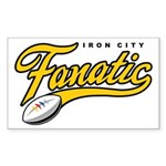 Iron City Fanatic Sticker (Rectangle 10 pk)
