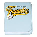 Iron City Fanatic baby blanket