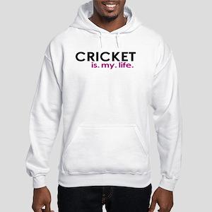 """Cricket is my life"" Hooded Sweatshirt"
