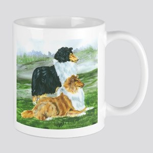 Rough Collie Pair w Tri Mug