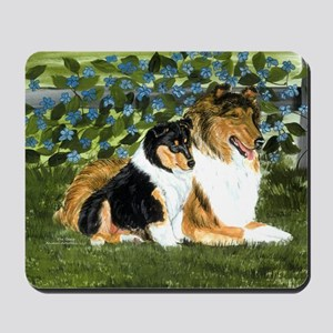 Rough Collie Mom and Pup Mousepad