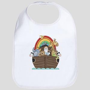 Noah's Ark and Rainbow Baby Bib