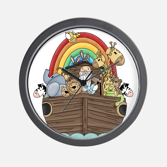 Noah's Ark and Rainbow Wall Clock