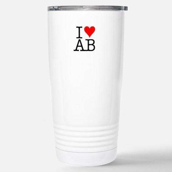 """I [love] AB"" Stainless Steel Travel Mug"