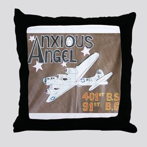 Anxious Angel Throw Pillow