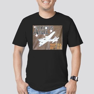 Anxious Angel Men's Fitted T-Shirt (dark)