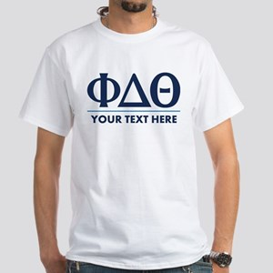 Phi Delta Theta Personalized White T-Shirt