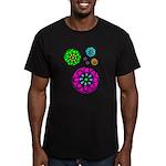 Fibonacci Flower Power Men's Fitted T-Shirt (dark)