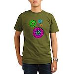 Fibonacci Flower Power Organic Men's T-Shirt (dark