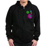 Fibonacci Flower Power Zip Hoodie (dark)