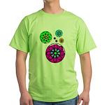 Fibonacci Flower Power Green T-Shirt