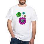 Fibonacci Flower Power White T-Shirt