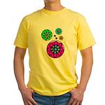 Fibonacci Flower Power Yellow T-Shirt