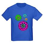 Fibonacci Flower Power Kids Dark T-Shirt