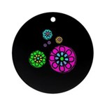 Fibonacci Flower Power Ornament (Round)