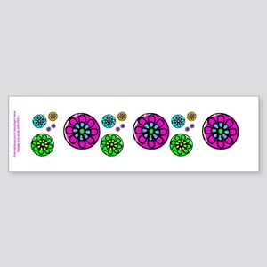 Fibonacci Flower Power Sticker (Bumper)